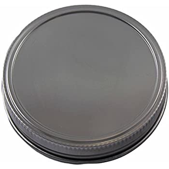 Stainless Steel Storage Lids Caps with Silicone Seals for Mason Jars (5 Pack, Wide Mouth)