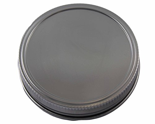 Stainless Steel Storage Lids Caps with Silicone Seals for Mason Jars (5 Pack, Wide Mouth) (Wide Mouth Lid One Piece compare prices)
