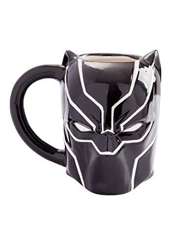 Color Mug Full Stoneware (Marvel Black Panther 20 Oz Sculpted Ceramic Mug)