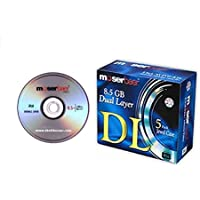 Moserbaer DVD-R DL 8.5 GB in Jewel Case - Pack of 5