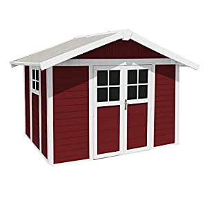 Grosfillex-Deco-Garden-Shelter-75-m2-with-Anchor-Kit-White-Red