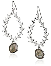Barse Sterling Silver Labradorite Statement Drop Earrings