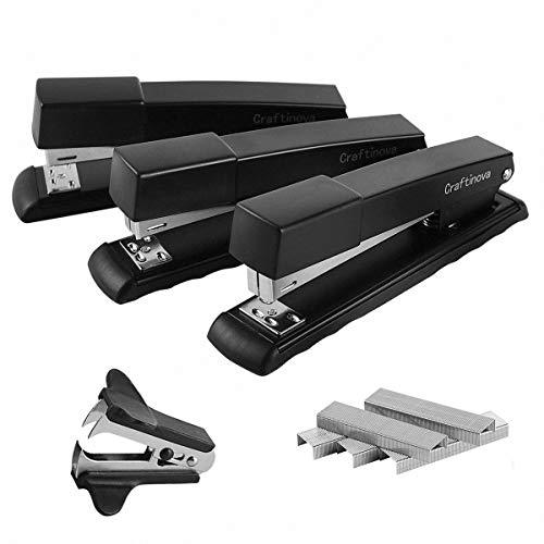 Craftinova Stapler,Office Stapler,20 Sheet Capacity,Includes 2000 Staples & Stapler Remover,3PACK. (Small Office Stapler)