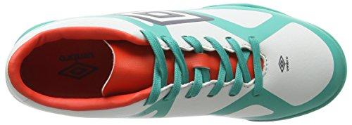 Umbro Velocita Iii Club Tf-Jnr, Botas de Fútbol para Niños Multicolor (Dawn Blue/Carbon/Fiery Red/Spectra Green Epe)