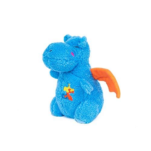 - ZippyPaws - Cheeky Chumz Super Soft Squeaker Plush Dog Toy with Unique Sound - Drake The Dragon