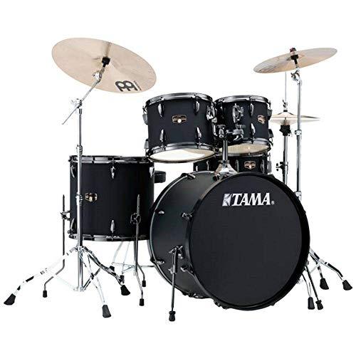 (Tama Imperialstar Complete Drum Set - 5-piece - Black with Black Nickel Hardware)
