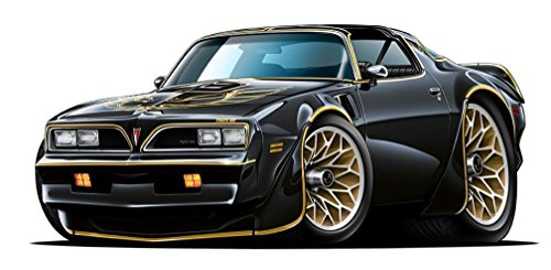 1977 Firebird Trans Am Cartoon Car WALL DECAL 2ft long Sport Car Graphic Sticker Man Cave Garage Boys Room Decor