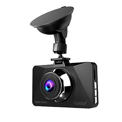 "Conbrov DC6000 Real Night Vision Dash Cam 2.7"" Full HD 1080P 170-degree Wide Angle Lens Car Dashboard Camera Video Recorder with G-sensor Loop Recording"