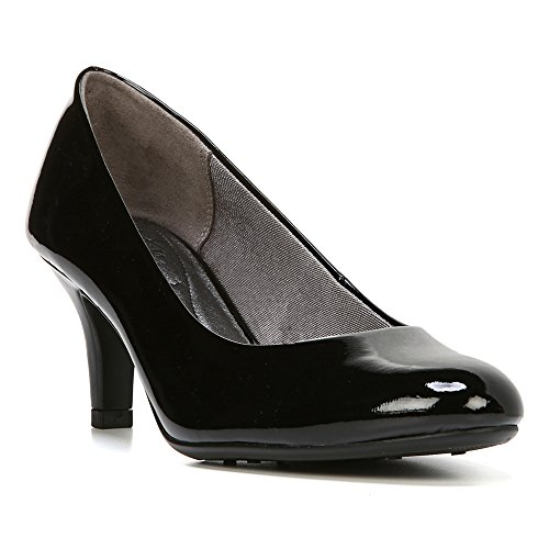 LifeStride Women's Parigi Dress Pump, Black Glory, 7.5 M US