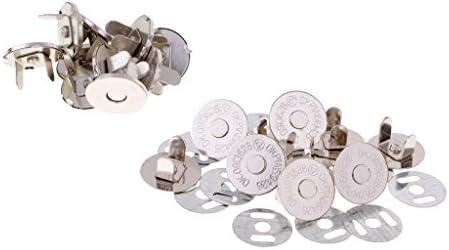 磁気ボタン マグネットホック 縫い付けタイプ 超薄タイプ 14~18㎜  クラスプスナップ 縫製工芸品 実用 10セット全4種選