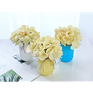 Veryhome Blooming Silk Hydrangea Flower Heads for DIY Bouquets,Wedding Centerpieces,Home Decor,12pcs 2