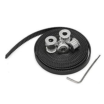 AiCheaX - 1 cinturón de 2 m GT2, 1 unidad de 16 T de 3 mm, 1 ...