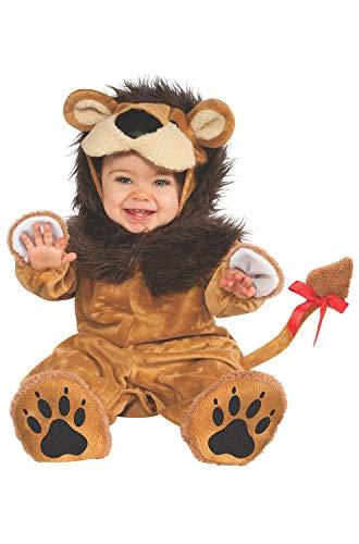 Rubie's Cuddly Jungle Lil Lion Romper Costume, Golden, 12-18 ()