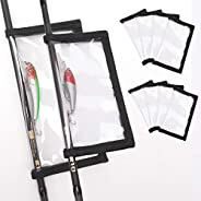 HomDeak Fishing Lure Wraps 10 Packs Durable Clear PVC Lure Covers Keeps Fishing Safe Easily See Lures Fishing