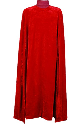 Cosplaysky Men Halloween Costume Tunic Hooded Robe Cloak Red Outfit X-Large