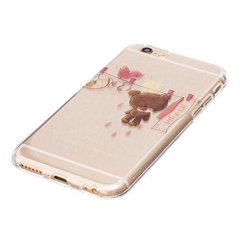 iPhone 6 / 6S Plus Custodia , Leiai Moda Orso Silicone Morbido TPU Cover Case Custodia per Apple iPhone 6 / 6S Plus