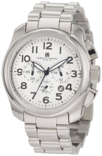 Charles-Hubert, Paris Men's 3810 Premium Collection Stainless Steel Chronograph Watch