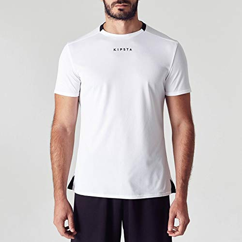 fe72ed506f5 Buy Kipsta Men s Football Jersey F100 - White Online at Low Prices in India  - Amazon.in