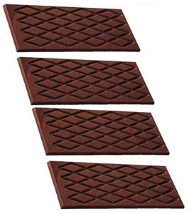 UPC 811657046163, Fat Daddio's Polycarbonate Chocolate and Candy Mold Flat Bar with Diamond Pattern, 4 Pieces