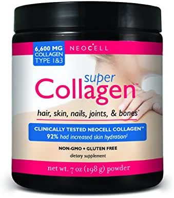 Neocell Super Powder Collagen, Type 1 and 3, 7 Ounce (7oz x 4)