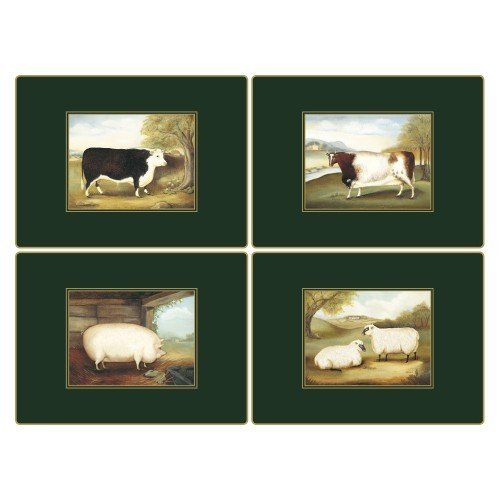 Lady Clare Continental Placemats - Naive Animals - Set of 4