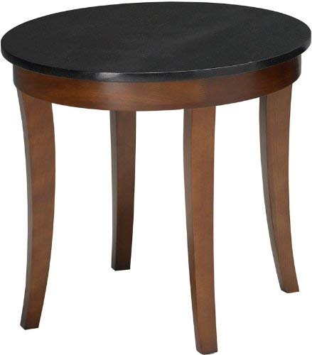 Mayline M103RSCR Midnight Round End Table 24