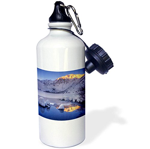 3dRose Danita Delimont - Mountains - USA, California, Sierra Nevada Range. Winter sunrise at Convict Lake. - 21 oz Sports Water Bottle (wb_278591_1) by 3dRose