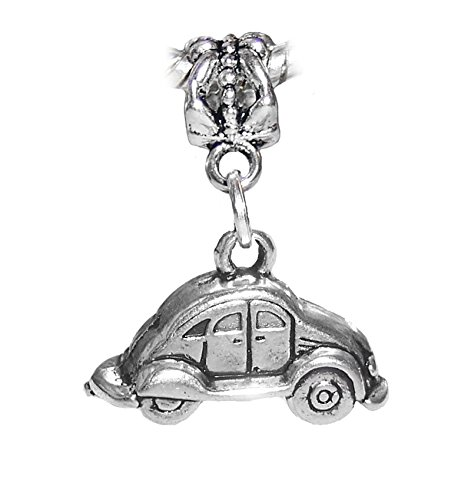 Volkswagen Bug Car Automobile VW Dangle Charm for European Bracelets