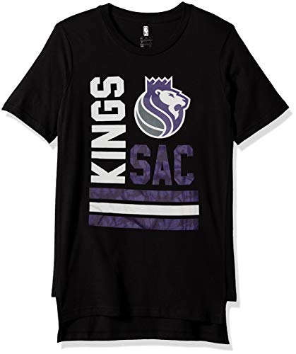 Outerstuff NBA NBA Youth Boys Sacramento Kings Shattered Short Sleeve Tee, Black, Youth Large(14-16)