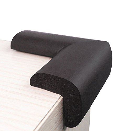 Granite Corner - Kxtffeect 10Pcs Extra Thick Premium High Density Furniture Table Edge & Corner Guard Baby Proofing Bumper Protector - Jumbo Size Value Pack (Black)