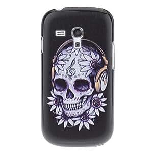Cráneo con el modelo de cubierta trasera dura Auricular para Samsung Galaxy S3 I8190 Mini