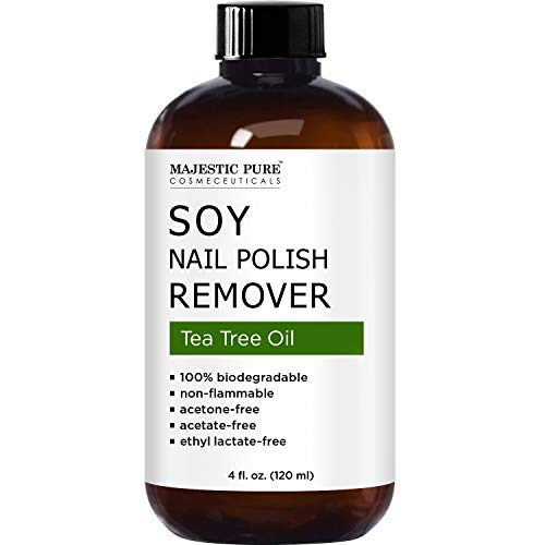 MAJESTIC PURE Soy Nail Polish Remover - Natural Acetone Free for ...