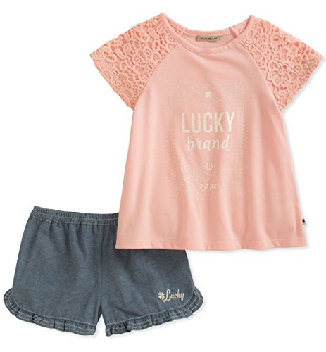 Lucky Brand Girls Denim Shorts Set