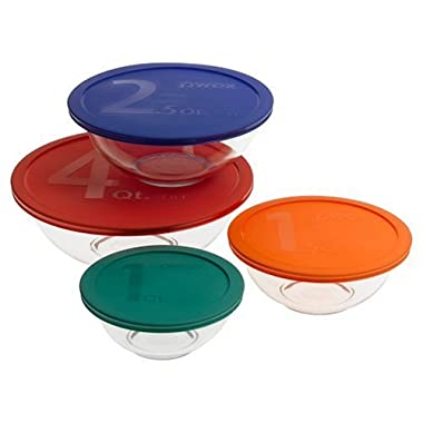 Pyrex Smart Essentials 8-Piece Mixing Bowl Set