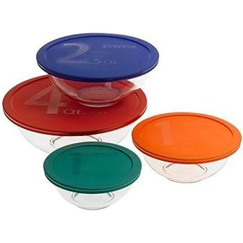 Superior Pyrex Smart Essentials 8 Piece Mixing Bowl Set