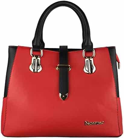 cbd1a438db7f Nevenka Top Handle Handbag for Women Pu Leather Purses and Handbags for Girl  Crossbody Satchel