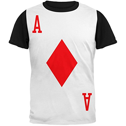 Halloween Ace of Diamonds Card Soldier Costume Adult