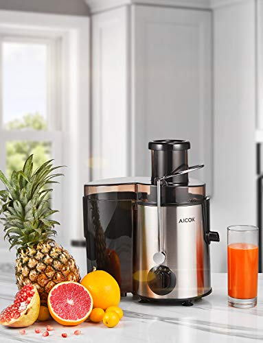 Juicer Aicok Centrifugal Juicer with Wide Mouth, 3 Speed Juice Extractor for Fruit and Vegetable, Stainless Steel and BPA Free #juicer
