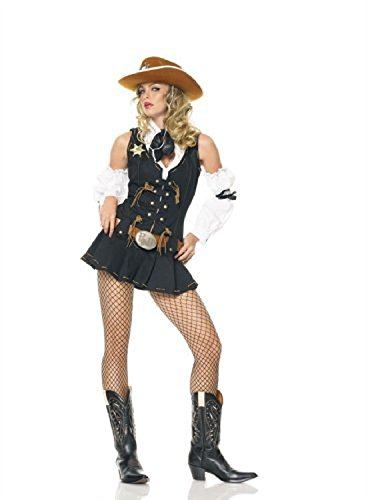 [Wild West Sheriff Costume - Large - Dress Size 12-14] (Sheriff Costume Women)