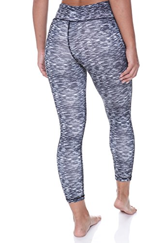 N.Y.L. Women's Workout Exercise Capri Leggings With Elastic Band and Hidden Pocket