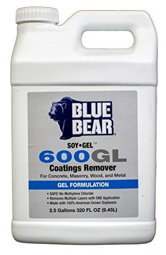 Soy Gel Stripper (BLUE BEAR 600GL Coatings Remover 2.5 Gallon)