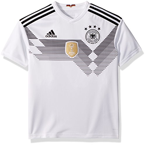 adidas Kids Boy's 2018 Germany Home Jersey (Little Kids/Big Kids) White/Black Medium (Kids World Cup Soccer Jersey)