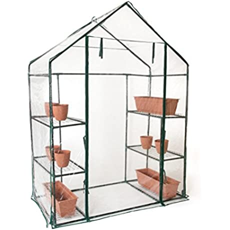 Trademark Innovations 6 Shelf 3 Tier 6 4 Tall Walk In Greenhouse