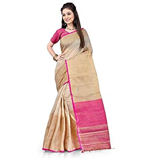 Fabattic Tassar Silk Saree (Chi51_Multicolor_Free Size) 41QQZmszisL
