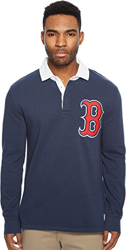 Levi's® Mens Men's Red Sox LSC Rugby Solid Shirt Blue Medium Sox Long Sleeve Polo