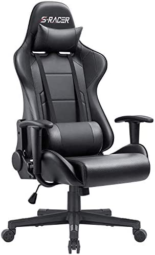 Furniwell Gaming Chair Office Chair Racing Desk Chair Adjustable Swivel High Back PU Leather Executive Ergonomic Computer Chair