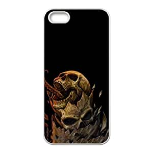 iPhone 4 4s Cell Phone Case White Angry Dragon Skull JNR2289120