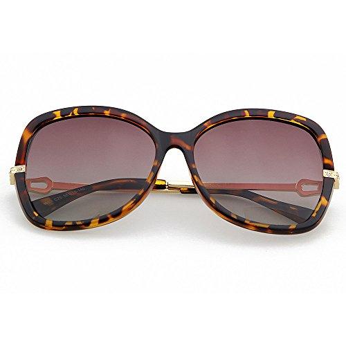 de Sol Libre de Gran GWF la Gafas Personalidad Sol Aire impresión Diseño Gafas de Purple polarizada al Sol Protección tamaño Animal Brown Gafas de UV Color de Lente de W1wc1qE4Y