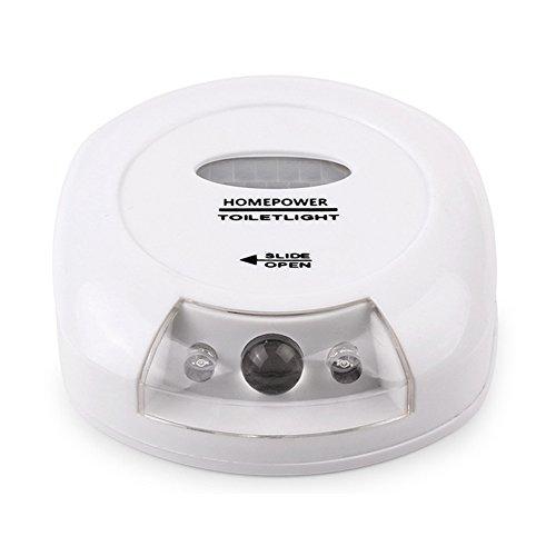 LEDHOLYT Battery Powered Body Sensing Automatic LED Light Motion Sensor Activated Night Lamp Bathroom Toilet Bowl Light Review