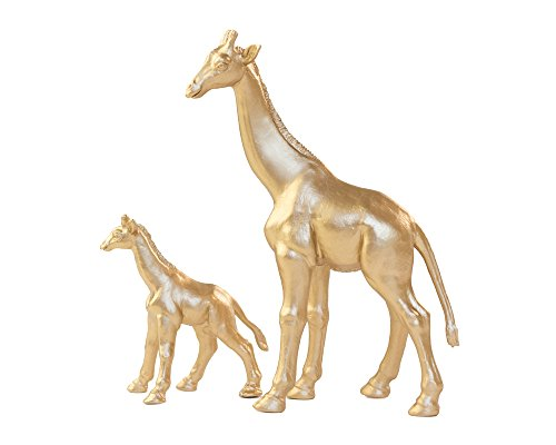 (Giraffe Cake Topper, Gold Giraffe Set, Baby Shower Cake, Mother and Baby set of)